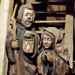 Postavy - dřevěné sochy