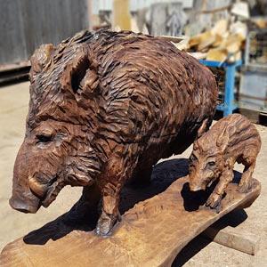 Dřevěné sochy zvířat